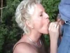 Matured Bush-league Wife Sucks And Fucks Outdoor With Facial Cumshot