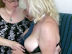OldNanny Mature Close All over Nice Knockers Masturbate Near Buxom Grandma Together