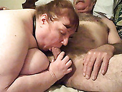 My Fat And Horny Mature Wife Giving Head For Homemade Porn Clip