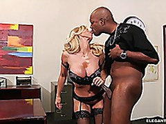 Mature Amber Lynn Gives Up Her Legendary Booty To Bbc
