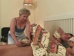His milf finds him having it away mother-in-law!