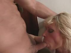 Aged widow loves two little boners