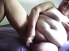 Big Granny Masturbating With A Dildo