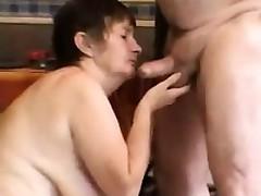 Horn-mad Grandma And Grandpa Having Sex