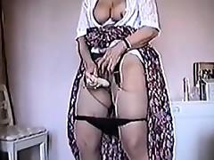 Granny Masturbates With The brush Vibrator