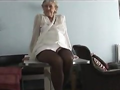 Kinky Granny Teasing Their way Mature Pussy