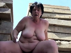 German old BBW Mom get stinking and fucked alfresco