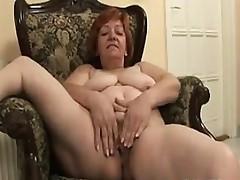 Chubby Granny Mastubates On The Chair