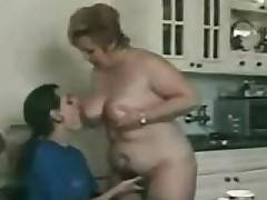 Grandma Sucks Plus Fucks In A Kitchen