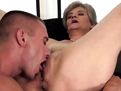 Licking a Real Horny Granny Snatch