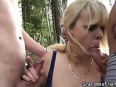 Granny is double fucked near someone's skin tarn