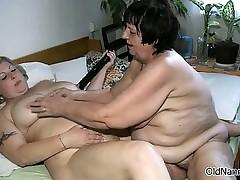 Nasty mature whores go crazy dildo part1