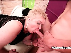 Obese mature dame with round and fat part6
