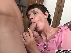 Horny mother in law needs load of shit