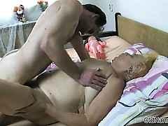 Nasty old prostitute gets her pussy pounded part4