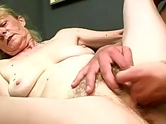 Dirty granny about a hairy cunt