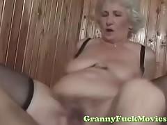 dude fucks off colour euro granny
