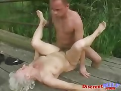 Mature granny get fucked at the end of one's tether young man