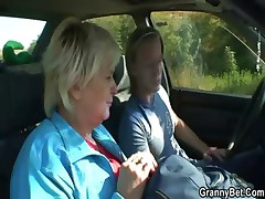 She rides my horny cock befitting in the car