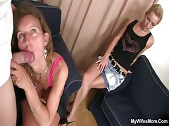 He fucks maw in law and wife watches it