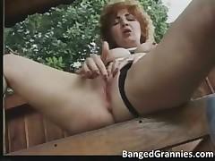 Nasty brunette MILF gets aroused part1