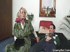 Old bitch sucks his flannel