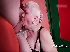 Fat old mature wife loves deepthroating part3
