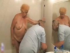 Dirty age-old woman goes crazy getting her part1