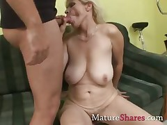 Horny old housewife June