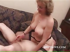 Flaxen-haired mommy loves to ride penis