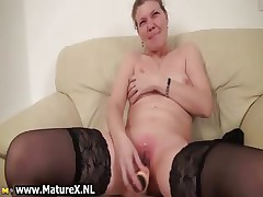 Older housewive is licking big part4