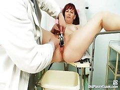 Old Zita mature pussy speculum examination within reach bizzare gyno clinic