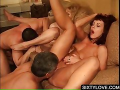 Groupsex with mature obtaining cunt fucked