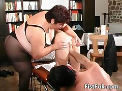Redhead whore gets her anus fisted part4