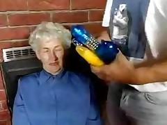 Soft Granny loves dildos