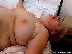 Chubby old grandma gets her pussy fucked part6