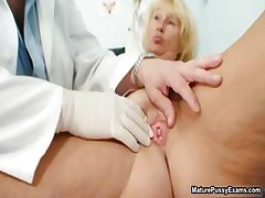 Horny doctor inspects a grown up maw part4