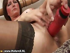 Thersitical ancient mom in sexy lingerie fucking part5