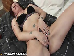 Horny old mom showing part4
