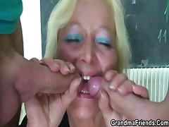 Perverted age-old tutor takes two cocks