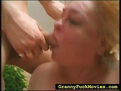 Experimental granny permanent fucked to wild 3some