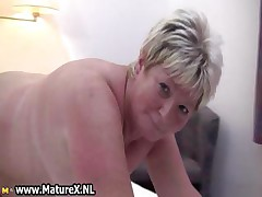 Chubby mature kermis is piping hot and plays part2