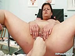 Big tits mom perfect gyno slow upon