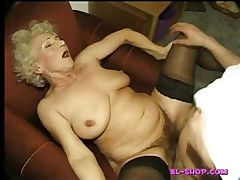 Hairy granny Norma pissing