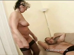 X-rated old granny wants him now and wont stop til she gets rosiness