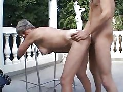 granny outdoor have sexual intercourse