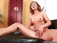 Let go 50 milf enjoys the brush fingers plus his cock in the brush old cunt