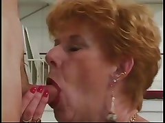 Prototype Granny Diane Richards banged hither kitchen
