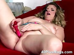 Rhonda masturbating with their way first toy