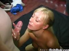 AmateurFacialsUK Bukkake Session almost Blonde Milf Cum Swallower Beauty Jade